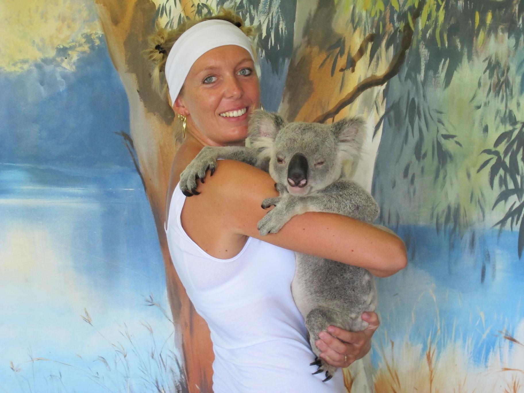 Marjolein met koala